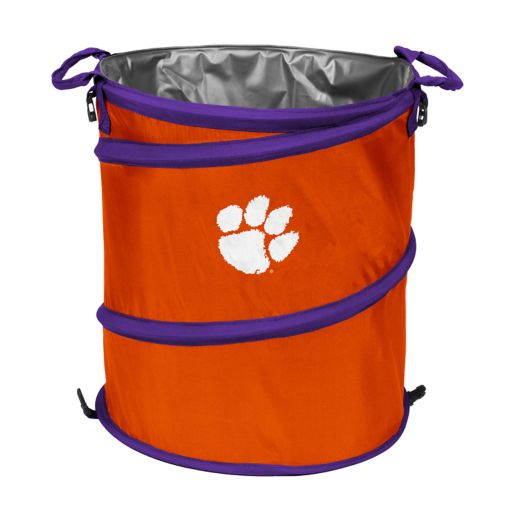 Logo Brand Clemson Tigers Collapsible 3-in-1 Trashcan Cooler