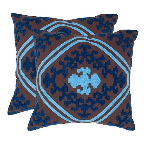 Pete 2-piece 18'' x 18'' Throw Pillow Set