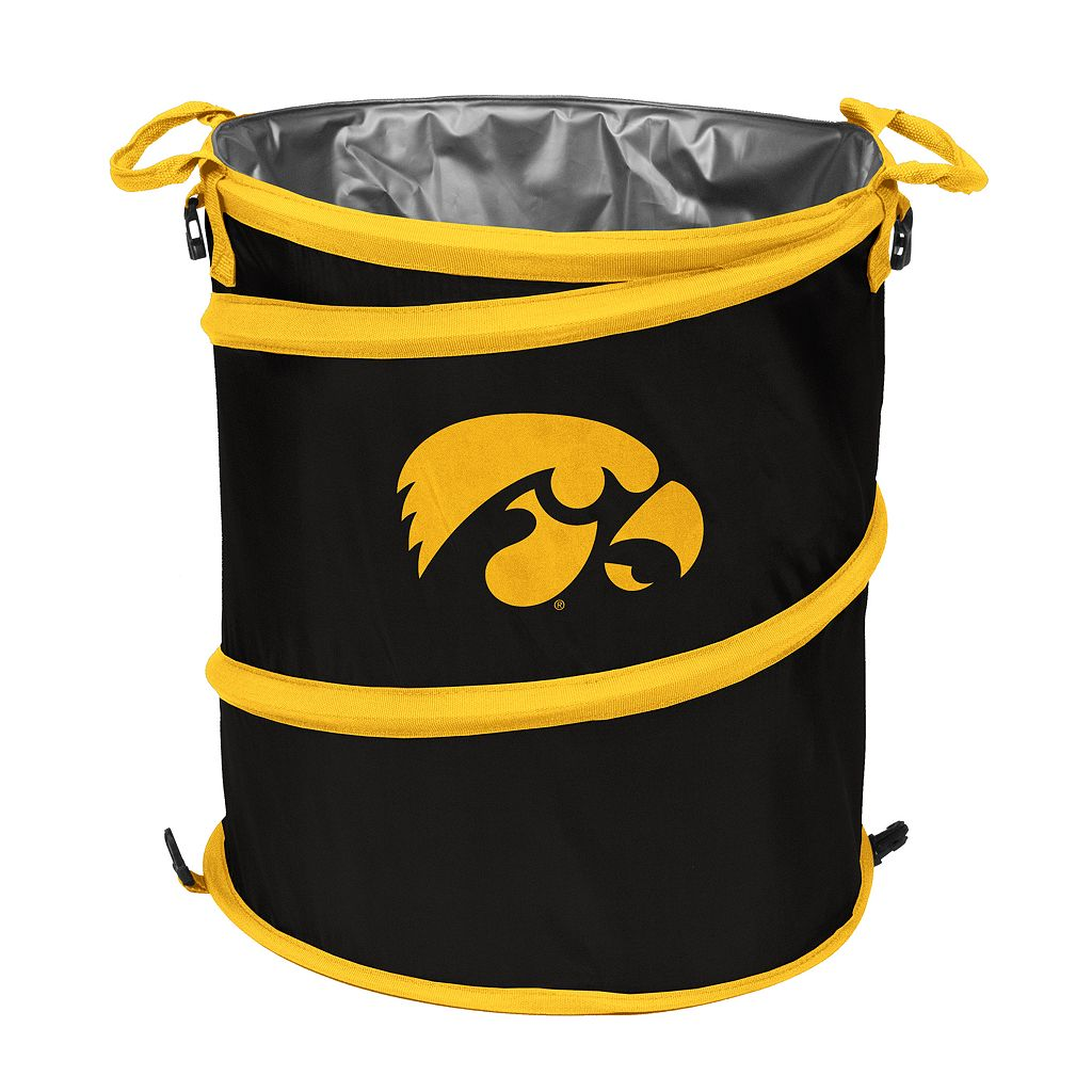 Logo Brand Iowa Hawkeyes Collapsible 3-in-1 Trashcan Cooler