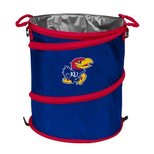 Logo Brand Kansas Jayhawks Collapsible 3-in-1 Trashcan Cooler