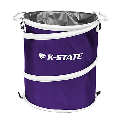 Logo Brand Kansas State Wildcats Collapsible 3-in-1 Trashcan Cooler