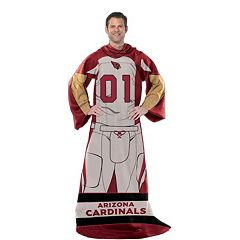 Arizona Cardinals Uniform Comfy Throw Blanket with Sleeves by Northwest
