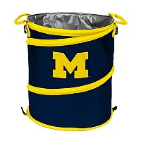 Logo Brand Michigan Wolverines Collapsible 3-in-1 Trashcan Cooler