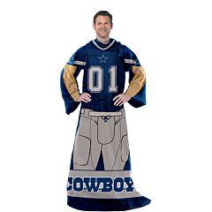 Dallas Cowboys Uniform Comfy Throw Blanket with Sleeves by Northwest