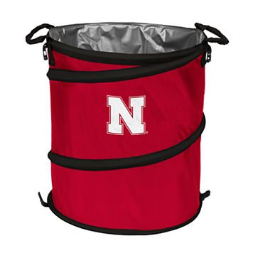 Logo Brand Nebraska Cornhuskers Collapsible 3-in-1 Trashcan Cooler