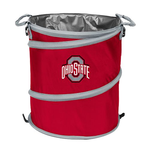 Logo Brand Ohio State Buckeyes Collapsible 3-in-1 Trashcan Cooler