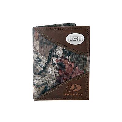 Zep-Pro LSU Tigers Concho Mossy Oak Trifold Wallet