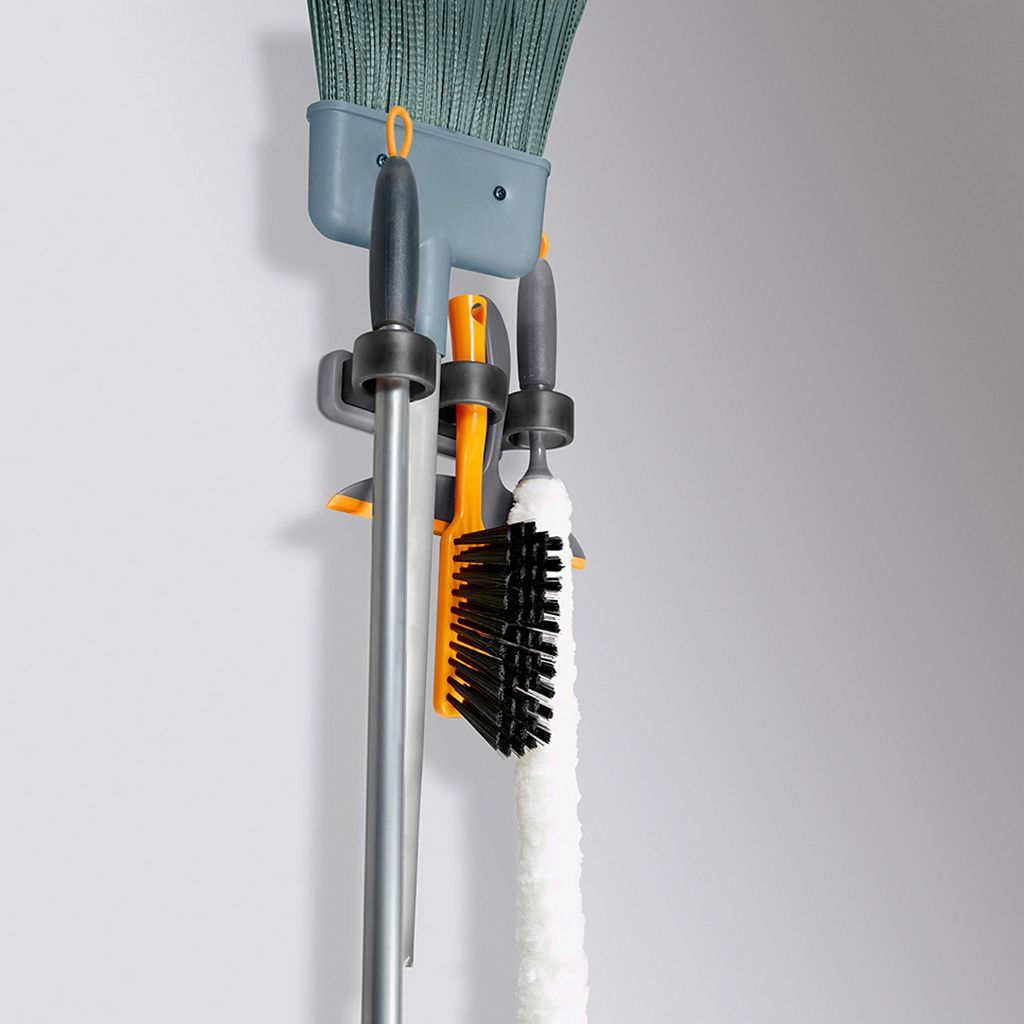 Casabella 5-Tool Hanging Broom and Mop Organizer