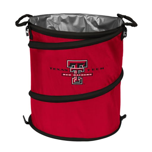 Logo Brand Texas Tech Red Raiders Collapsible 3-in-1 Trashcan Cooler