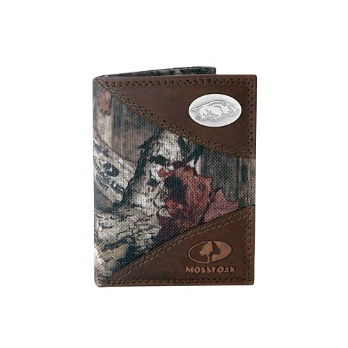 Zep-Pro Arkansas Razorbacks Concho Mossy Oak Trifold Wallet