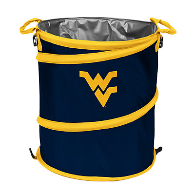 Logo Brand West Virginia Mountaineers Collapsible 3-in-1 Trashcan Cooler