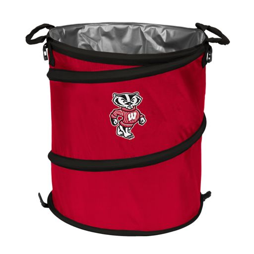Logo Brand Wisconsin Badgers Collapsible 3-in-1 Trashcan Cooler