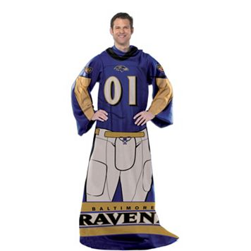 Baltimore Ravens Uniform Comfy Throw Blanket with Sleeves by Northwest