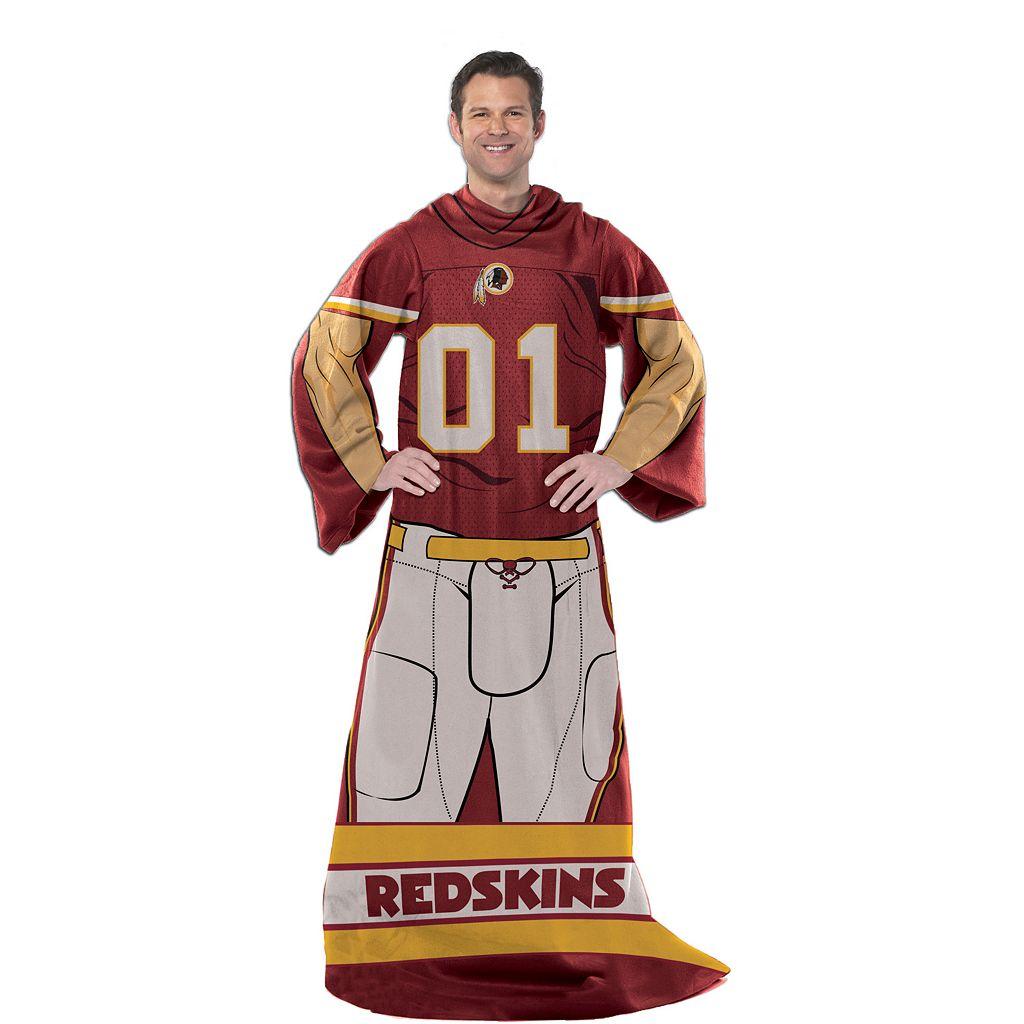 Washington Redskins Uniform Comfy Throw Blanket with Sleeves by Northwest