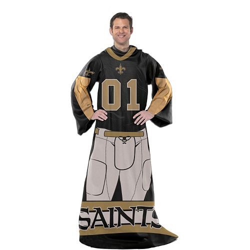 New Orleans Saints Uniform Comfy Throw Blanket With