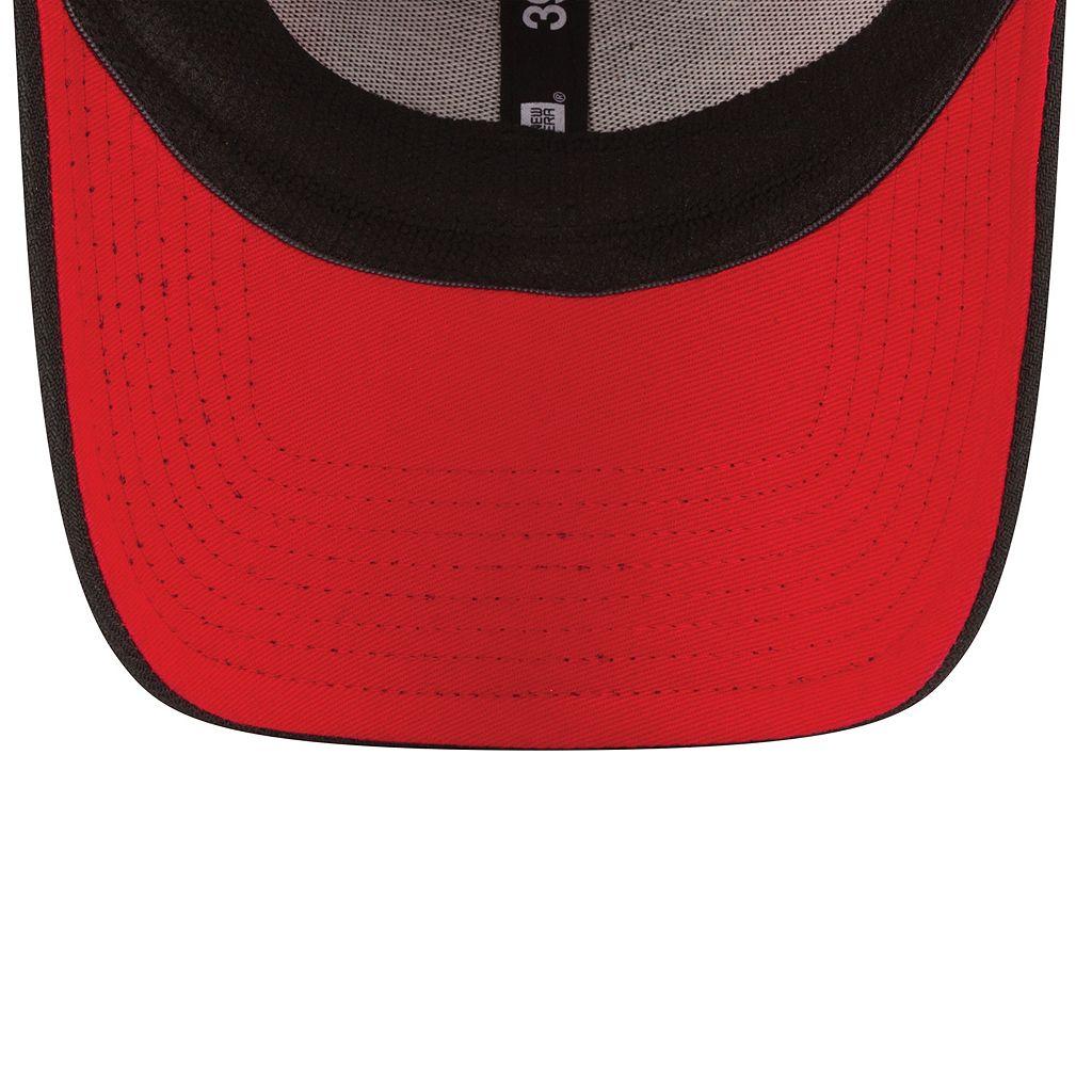 Adult New Era Cincinnati Reds Stacker 39THIRTY Stretch-Fit Cap