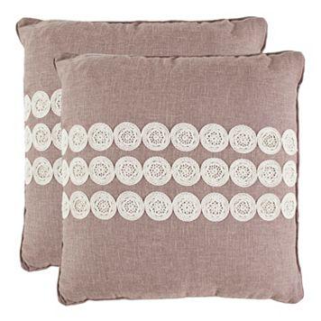Thora 2-piece 22'' x 22'' Throw Pillow Set