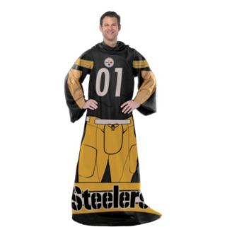 Pittsburgh Steelers Uniform Comfy Throw Blanket with Sleeves by Northwest