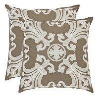 Collette 2 pc 18'' x 18'' Throw Pillow Set