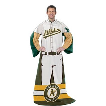 Oakland Athletics Uniform Comfy Throw Blanket with Sleeves by Northwest