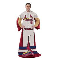 St. Louis Cardinals Uniform Comfy Throw Blanket with Sleeves by Northwest