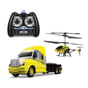 World Tech Toys MegaHauler Helicopter and Remote Control Truck Set