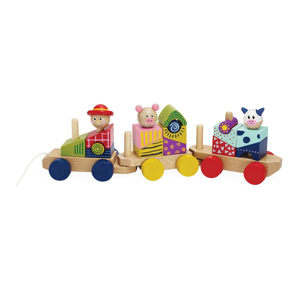 Stack and Pull Train by Manhattan Toy