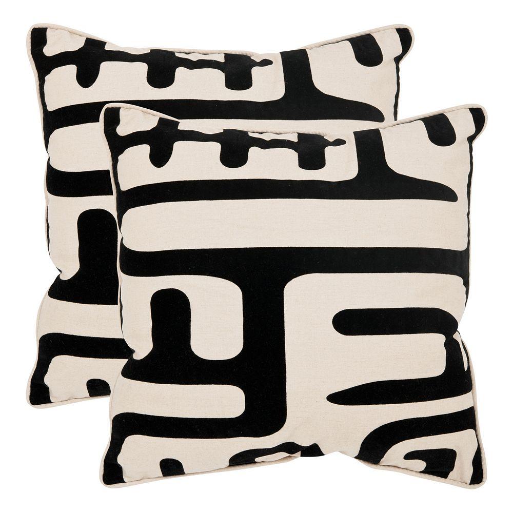 Maize 2-piece 18'' x 18'' Throw Pillow Set
