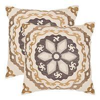 Thea 2 pc 18'' x 18'' Throw Pillow Set