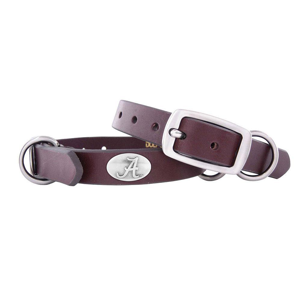 Zep-Pro Alabama Crimson Tide Concho Leather Dog Collar - XS