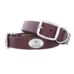 Zep-Pro Alabama Crimson Tide Concho Leather Dog Collar - M