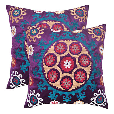 Vanessa 2-piece 20'' x 20'' Throw Pillow Set