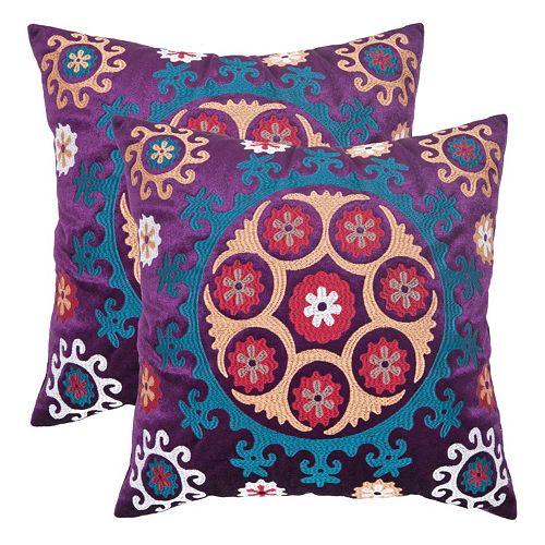 Vanessa 2-piece 22'' x 22'' Throw Pillow Set