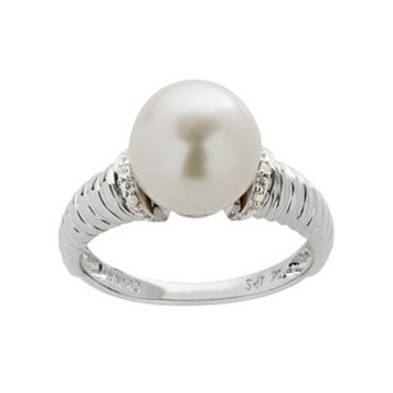 PearLustre by Imperial Freshwater Cultured Pearl & Diamond Accent 10k White Gold Ring