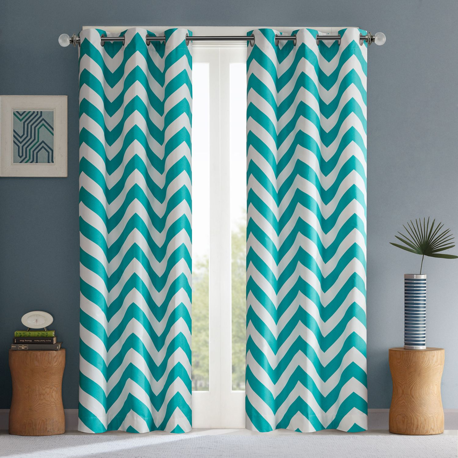 mi zone aries room darkening window curtain pair x - Room Darkening Curtains