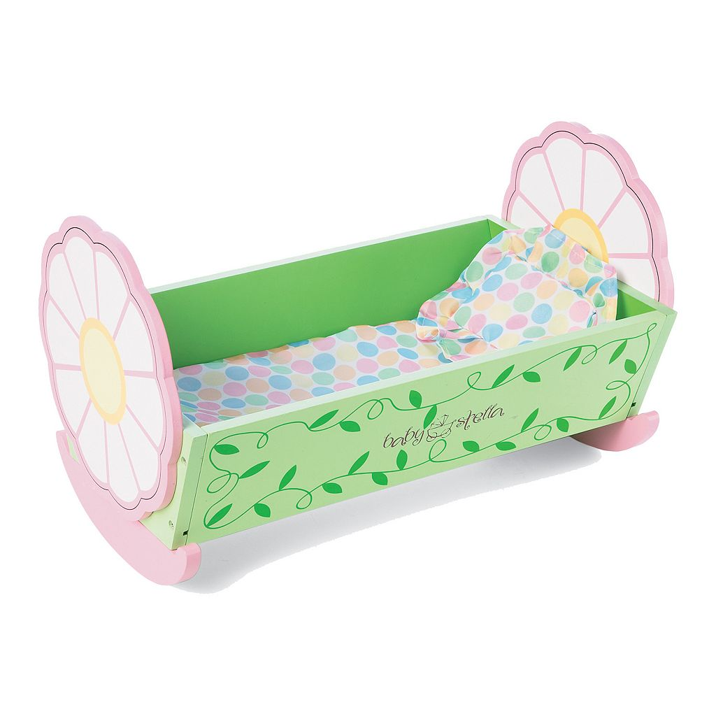 Baby Stella Lullaby Wooden Cradle by Manhattan Toy