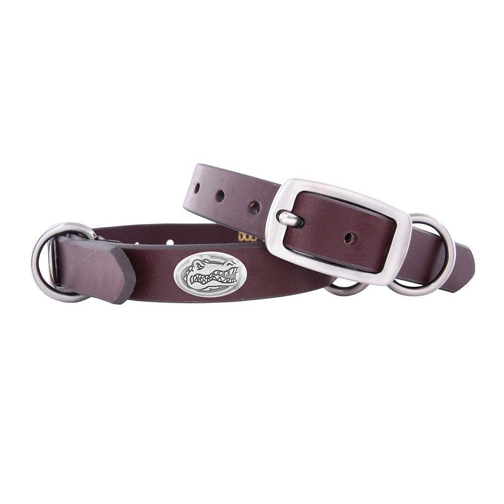 Zep-Pro Florida Gators Concho Leather Dog Collar - S
