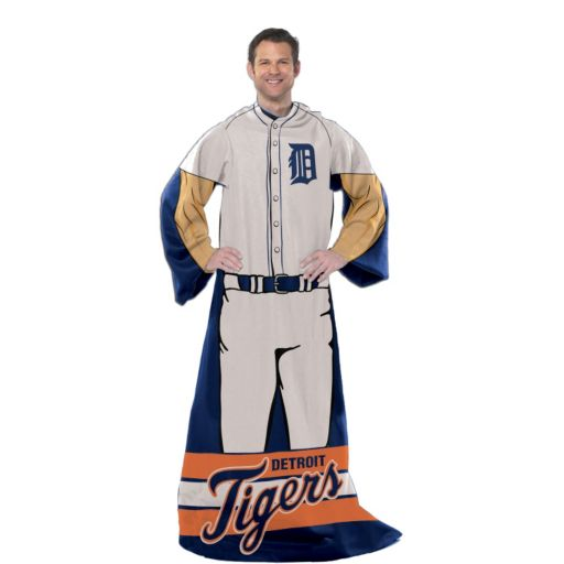 Detroit Tigers Uniform Comfy Throw Blanket with Sleeves by Northwest