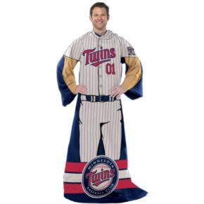 Minnesota Twins Uniform Comfy Throw Blanket with Sleeves by Northwest