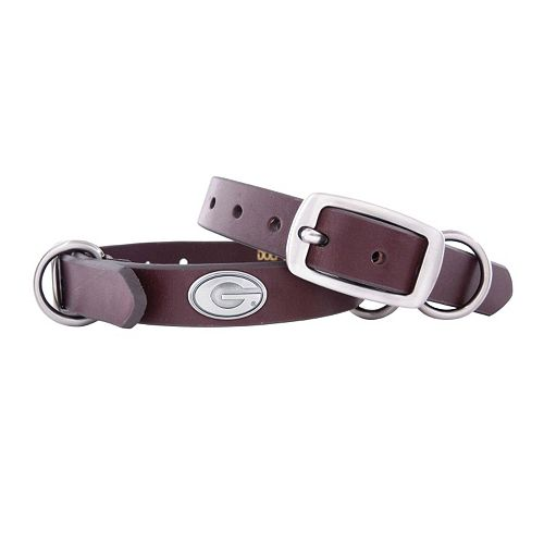 Zep-Pro Georgia Bulldogs Concho Leather Dog Collar - XS