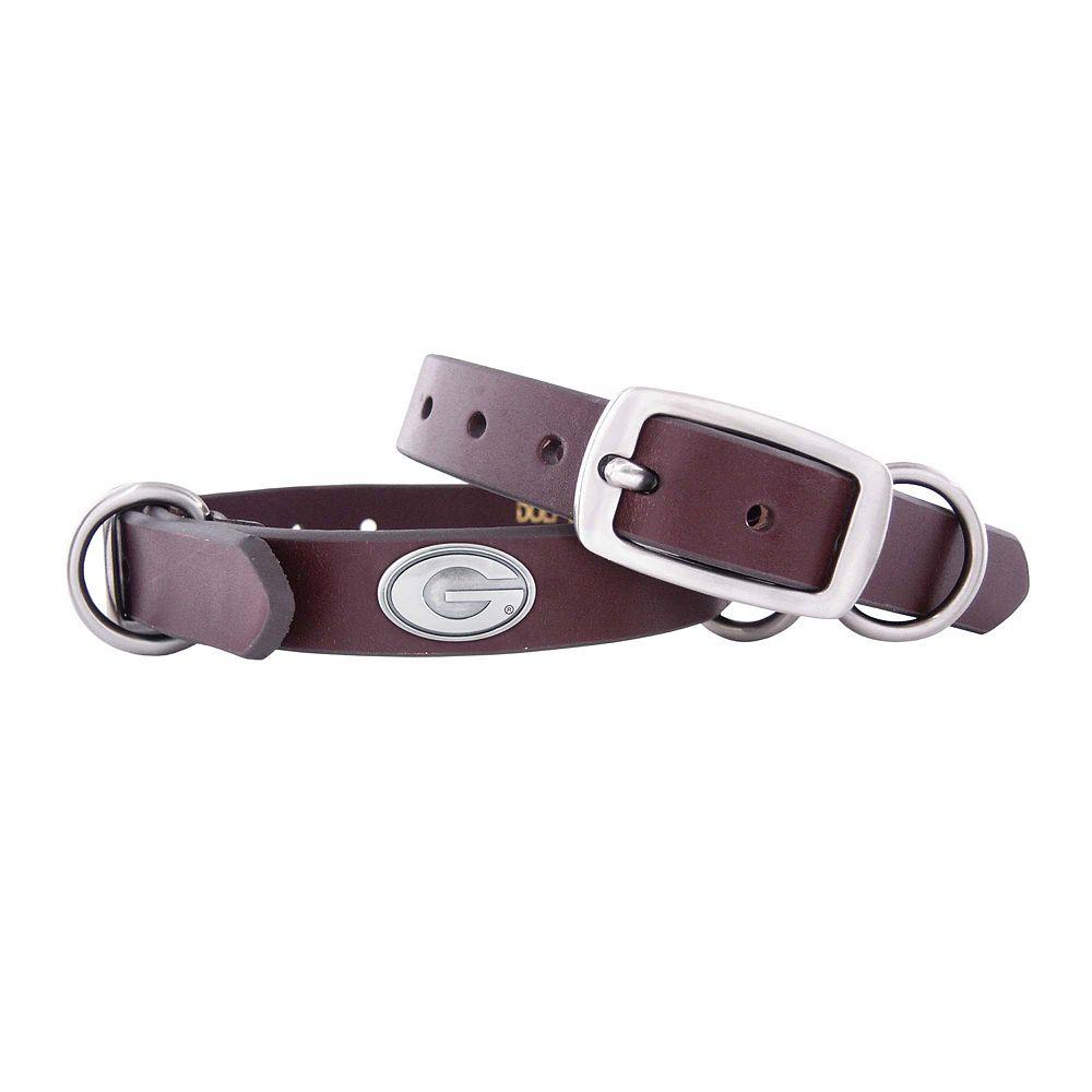 Zep-Pro Georgia Bulldogs Concho Leather Dog Collar - S