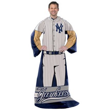 New York Yankees Uniform Comfy Throw Blanket with Sleeves by Northwest