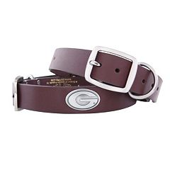 Zep-Pro Georgia Bulldogs Concho Leather Dog Collar - L