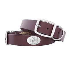 Zep-Pro Nebraska Cornhuskers Concho Leather Dog Collar - M