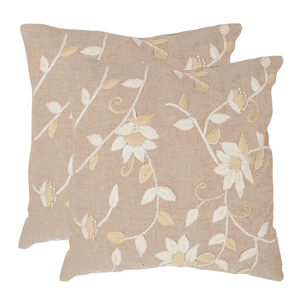 Vallie 2-piece 22'' x 22'' Throw Pillow Set