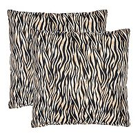 Ivy Zebra 2-piece Throw Pillow Set