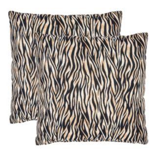 Ivy Zebra 2-piece Throw Pillow Set