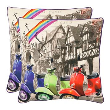Vienna 2-piece 18'' x 18'' Throw Pillow Set