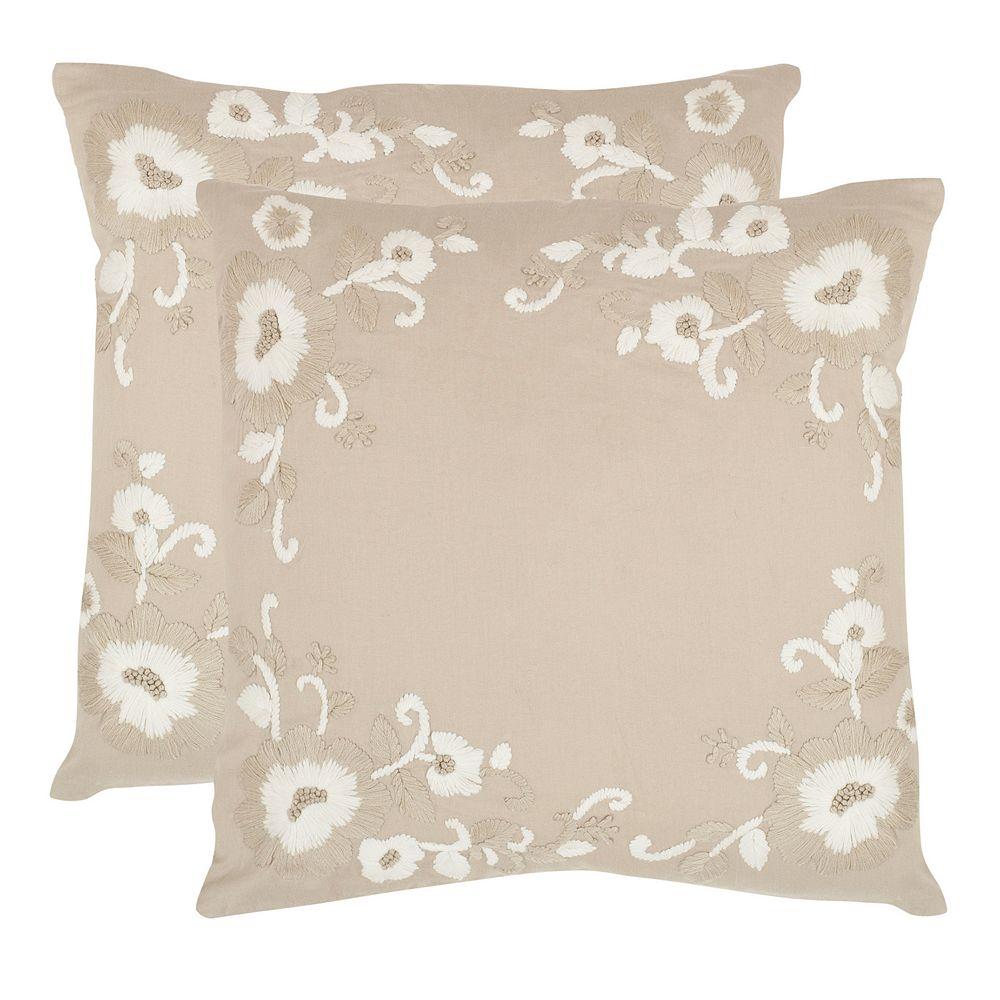 Jenny 2-piece 18'' x 18'' Throw Pillow Set