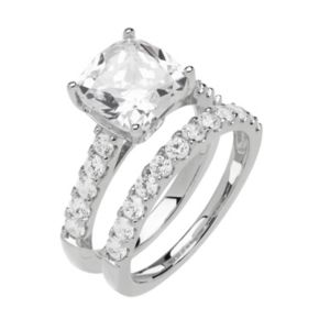 Emotions Sterling Silver Cubic Zirconia Ring Set